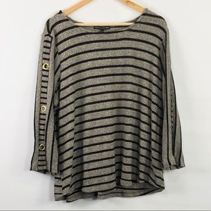 Adrienne Vittadini Woman Striped soft Sweater
